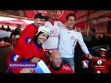Болельщики перед матчем сборной Дании и России #ребятамырядом