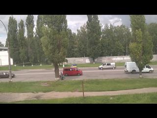 Автопробег в Сумах против гей-парада в городе Киев