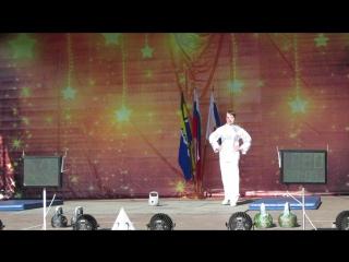 Наташа Козлова-Серебряная призёрка Кубка Европы по силовому жонглированию гирями!