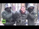 Германия: Полиция задерживает антифа шлема Права митинг в Баден-Вюртемберг