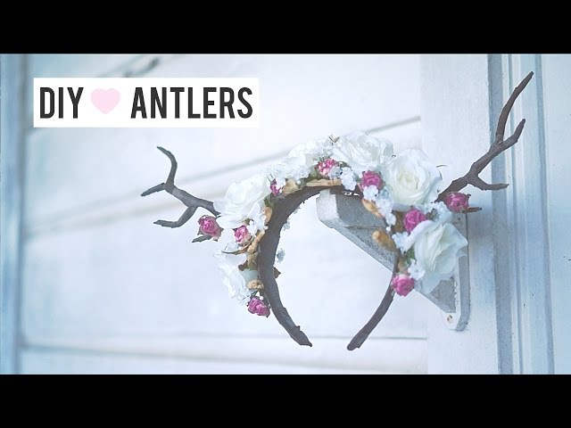 Forest Deer Fawn Antler DIY Floral Halloween Headpiece Costume