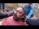 Over the bars mountain bike crash Rider knocked unconscious