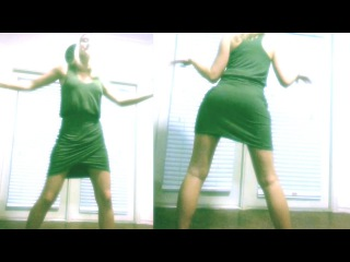 Beautiful Teen Blonde Girl Home Made Webcam Hot Dancing. At Home Cardio Exercise Dance Routine