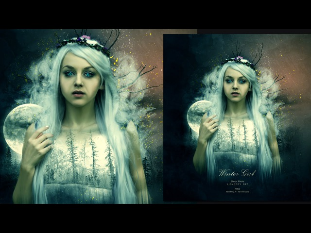 Create a Winter Girl Portrait Photo Manipulation In Photoshop
