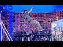 Farthest parkour cat leap (bar to wall) Guinness World Records Italian Show (Ep8)