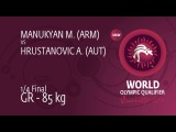 M. MANUKYAN (ARM) df. A. HRUSTANOVIC (AUT), 6-0