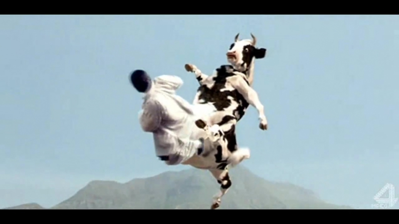 Бой с коровой и мастером Кунг фу