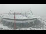 Полет над строящимся стадионом