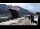 Черногория Швартовка круизного лайнера NOORDAM в Которе