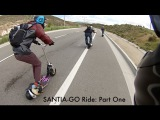 The Canyon Run Santia-Go: Evo 2x & Go-Ped GSR Scooter Riding /// PART ONE