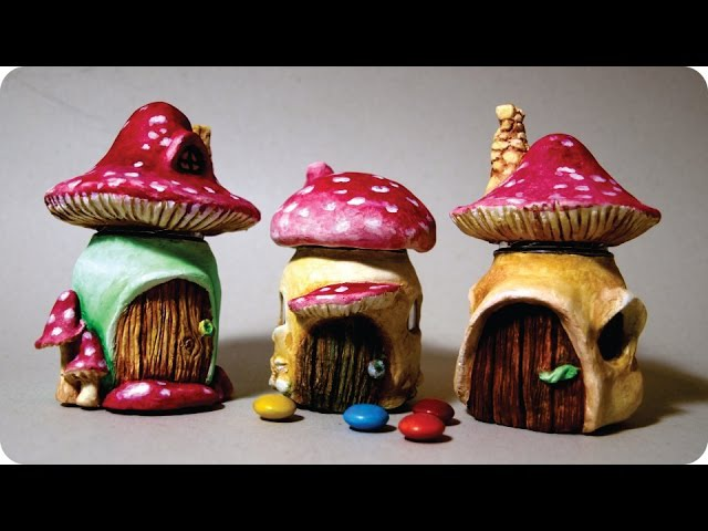 ❣DIY Miniature Mushroom Fairy House Jars❣