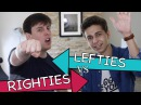 Lefties VS Righties Challenge with Gabe Erwin Thomas Sanders