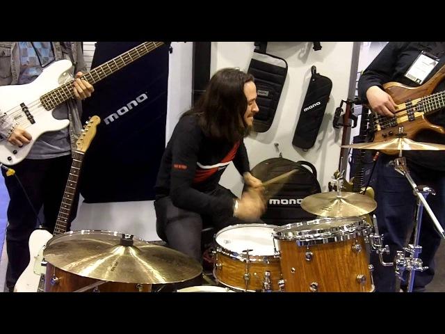 Mark Peric (Bass) Damien Schmitt (Drums) Federico Malaman (Bass) at NAMM 2012