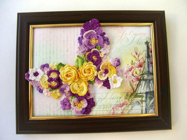 Вязание картин из цветов 154