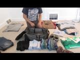 Как компактно сложить вещи в сумку
