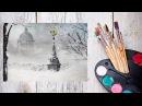 Как нарисовать зимний Петербург акрилом! Dari Art