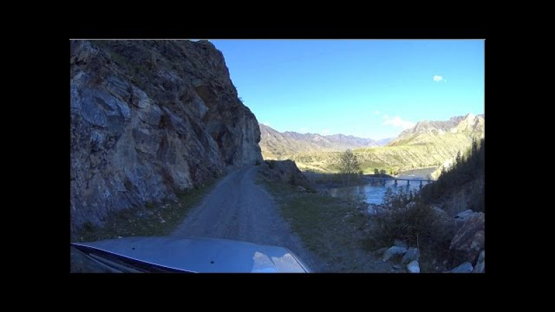 The road in the mountains: Inegen. Altai mountains, Siberia, Russia (Full HD)