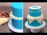 Easy Buttercream Cake Decorating Idea by CakesStepbyStep