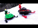 RC ADVENTURES - Dual Radio Control Snowmobiles - Arctic Cat & Ski-Doo MXZ - Brushless & Lipo Power