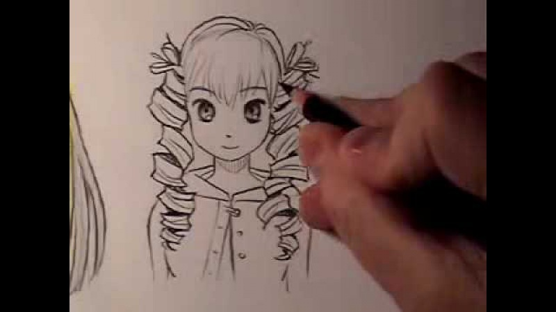 How to Draw Manga Hair: Curly Vs. Straight [HTD Video 13]