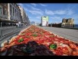 Самая большая пицца изготовлена в Неаполе - Napoli da record, ecco la pizza pi