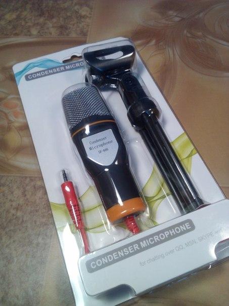 Приветствую всех сегодня у нас конденсаторный #алихвасты_микрофон SF-666, так конечно заявляет продавец, но насколько