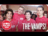 The Vamps try Human Hungry Hippos for Sport Relief