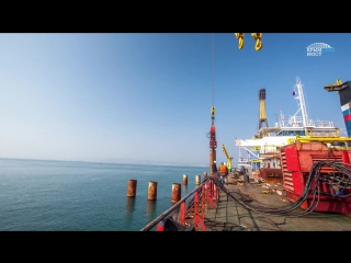 Лучшие моменты подготовки к стройке Крымского моста в одном видео #ждеммост