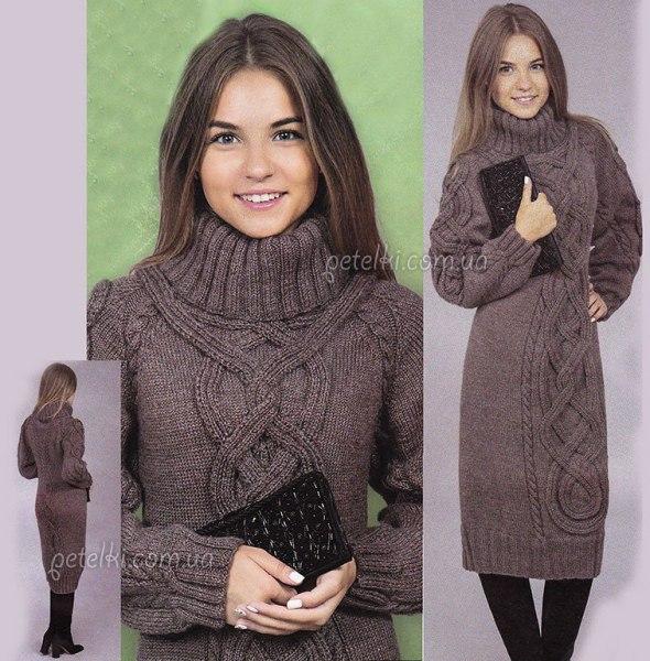 Схема вязания свитер платье