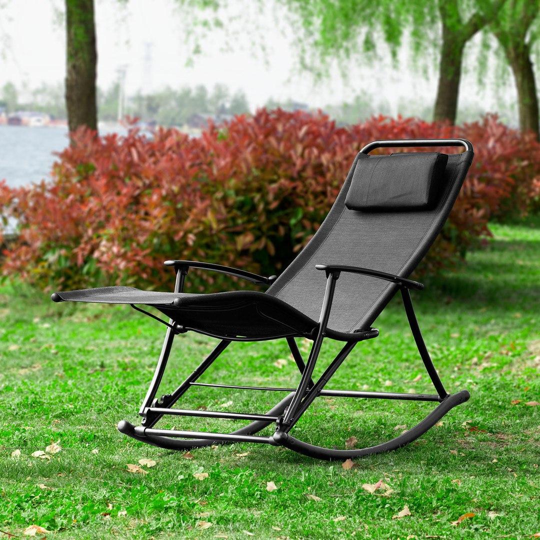 Mecedora silla plegable balanc n tumbona hamaca para su - Mecedoras para jardin ...