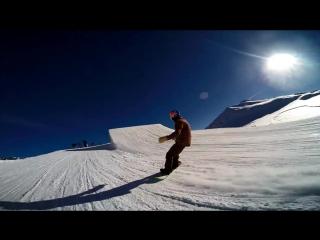 Сноуборд трюки в замедленной съемке