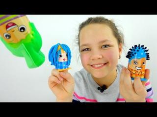 Моя профессия - парикмахер  Play Doh. Лучшая подружка Настя. Видео для детей.