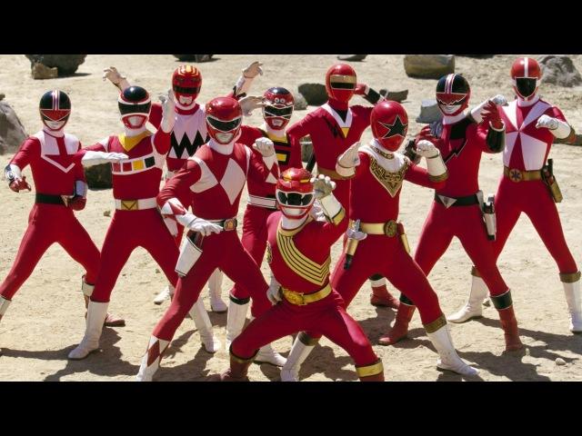 Power Rangers Wild Force - Forever Red Rangers Morphs