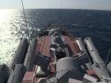 Крейсер «Москва» навел ракеты на сирийско-турецкую границу: кадры с борта корабля