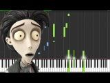 Victor's Piano Solo - Corpse Bride Piano Tutorial (Synthesia) The Wild Conductor