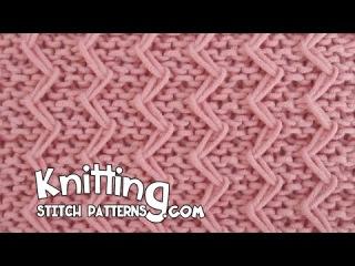 Zig Zag Fixed Loop in Garter Stitch