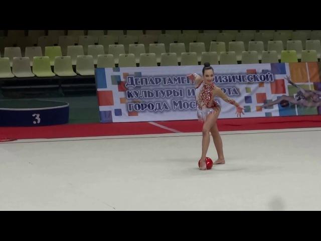 Мария Павлова, мяч. Чемпионат Москвы. Многоборье, 05.03.2016 (Отбор на Россию)
