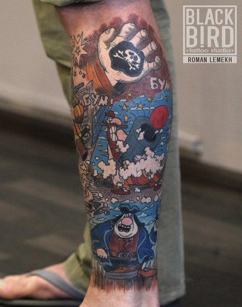 Пиратские татуировки: значение, 37 фото татуировки, эскизы 3