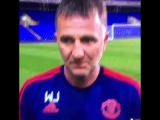 Manchester United в Твиттере «Manchester United U-21s players ambush Warren Joyce during an interview httpst.coccs8O4K4Lf #MUFC»