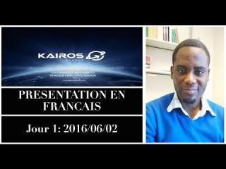 Presentation Kairos Planet Technologies Marketing plan (Francais) Niel Business
