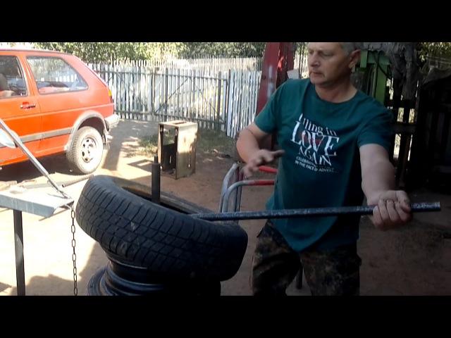 Самодельный ШИНОМОНТАЖ Reifenmontage leicht gemacht