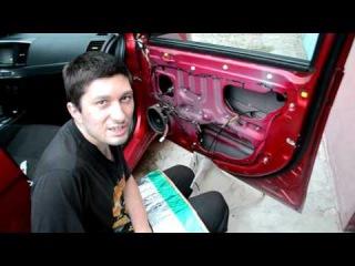 Шумоизоляция дверей автомобиля своими руками на примере митсубиси лансер.