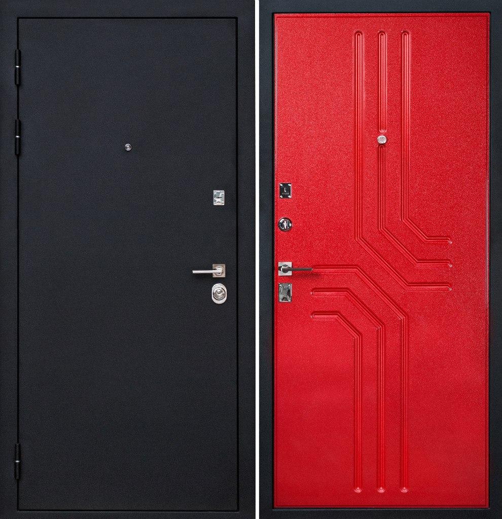 входная дверь двойная со стеклом металлик