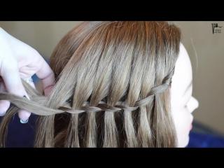 Французский водопад. Простая прическа на любую длину волос