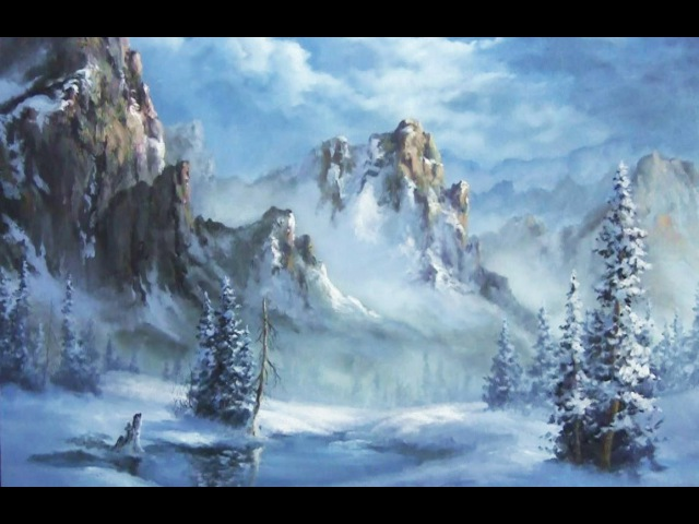 Snowy Mountain | Paint with Kevin Hill | artist oil painting