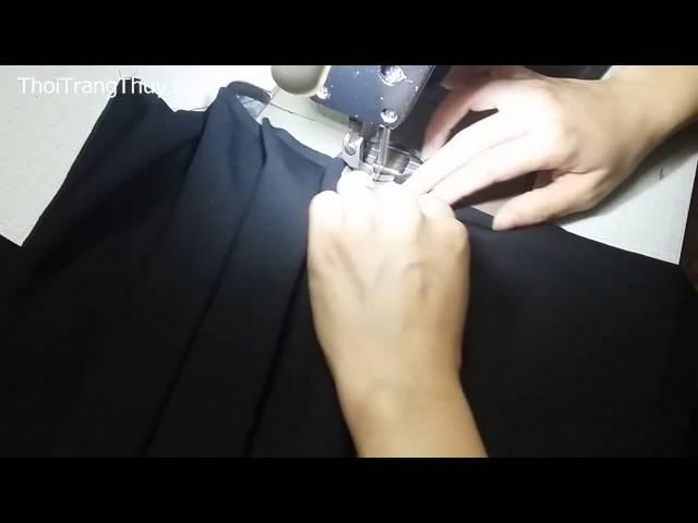 Cách may chân váy xoè loa kèn xếp ly (Phần 1)