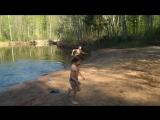 Майские праздники на даче:) Дети - моржи:)))