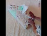 как сложить одеялко в конверт на выписку