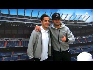 Lucas Vázquez and Jesé meet our fans in Barcelona!