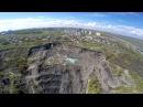Оползень Милановского с высоты птичьего полета в Ульяновске